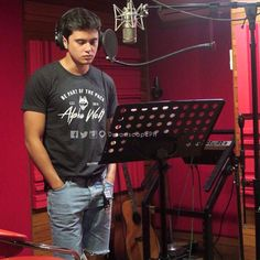 JaDine recording Till I Met You theme song (dreamscape) Till I Met You, James Reid, Nadine Lustre, Jadine, Just Friends, Theme Song, Thunder, Behind The Scenes, Real Life