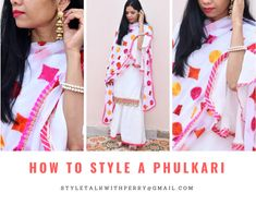 There are many ways to style Punjabi traditional attire called Phulkari. Want to know more, click on a link. #styling #style #phulkari #punjabi #punjabiattire #phulkariattire #indiantraditionalwear #punjabidress #pinkphulkari #phulkaridupatta #dupatta #phulkarisuit #personalstylist #styletalkwithperry #discoveryourstyle #mumblogger #punjabiblogger #punjabistyle Phulkari Suit, Punjabi Dress, Personal Stylist, Your Style, Stylists, Sari, Indian, Traditional, Link