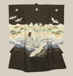 0ecedf0e3293 A fine plain silk miyamairi kimono worn during ceremonial anointment at a  Shinto shrine, featuring