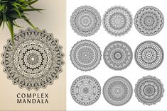 This bundle contains 300 unique vector Black & White mandala designs (some have clean lines and some have an organic look to have a more hand made feel to it) - Geometric Tattoo Sleeve Designs, Sacred Geometry Symbols, Photography Backdrop Stand, Relaxation Meditation, Butterfly Template, Indian Mandala, Paper Ornaments, Ancient Civilizations, Mandala Design