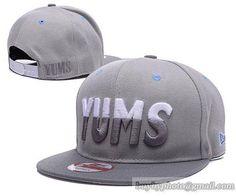 047f5b98757 Cheap Wholesale Yums Snapback Hats Gray for slae at US 8.90  snapbackhats   snapbacks  hiphop  popular  hiphocap  sportscaps  fashioncaps  baseballcap