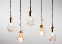 RECREATED Crystal light bulbs by Lee Broom