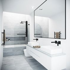 25 Bathroom Mirror Ideas for a Small Bathroom Bathroom Renos, Bathroom Renovations, Master Bathroom, Small Bathroom Bathtub, Bathtub Doors, Bath Tub, Washroom, Bathroom Vanities, Shower Doors