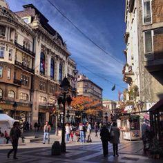 Street Knez Mihailova in the city centre of Belgrade, Serbia