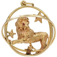 0c18812b8 RUSER Regal Lion Charm/Pendant ❤ liked on Polyvore featuring jewelry,  pendants, necklaces