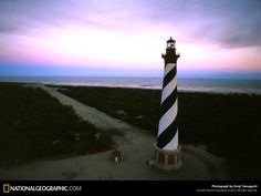 The Sun Goes Down At The Cape Hatteras Lighthouse