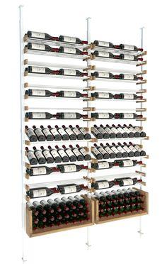 All-Star wine storage Presentation rows and U-Shelves, a perfect match Wine Cellar Modern, Glass Wine Cellar, Home Wine Cellars, Wine Cellar Design, Wine Rack Wall, Wine Wall, Wine Racks, Wine Shelves, Wine Storage