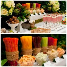 healthy-party: vege sticks and dips display