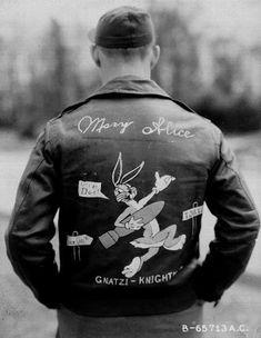 A-2 Bomber Jacket Art (WWII) - MARRY ALICE GNATZI KNIGHT