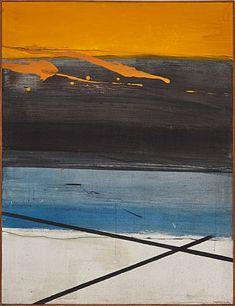 """Magne Rudjord, """"Lukket land"""" 1974 / Maleri / Nettauksjon / Blomqvist - Blomqvist Kunsthandel"""