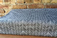 changing pad cover in gray herringbone $34