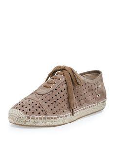 S0H7T Jimmy Choo Dara Star-Perforated Espadrille Sneaker