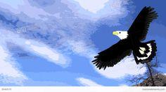 Lovely Eagle Soars In The Sky, Animation, Cartoon Stock Animation ...