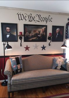 Country Sampler Magazine, Kimberly Smith, Primitive Living Room, Patriotic Decorations, Great Photos, Country Decor, Living Rooms, Room Ideas, Relax