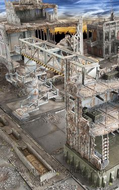 another great Necromunda table- looks like it would be great for Mechwarrior heroclix too!