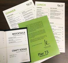 Menu Design | Menu Launch | Behind the Scenes | Pier 73 | YVR Salad Restaurants, Big Salad, Ginger Beer, Menu Design, Root Beer, New Day, Deck, Product Launch, Bar