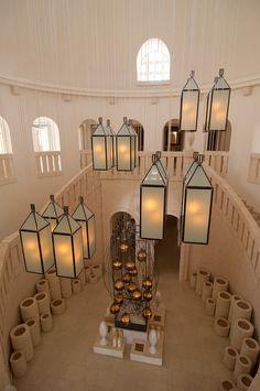 hanging modern style lanterns in a restored mediterranean hall ~ luxury resort Room Inspiration, Interior Inspiration, Italian Beach, Villas In Italy, Reception Counter, Ritual Bath, Puglia Italy, Light Images, Hotel S