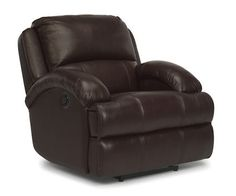 Flexsteel Furniture: Latitudes: Fast LaneLeather Power Recliner (1242-50P)