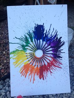 I've seen this use of crayons a lot, but I still really like it... Emotion wheel