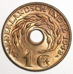 1942 WW2 Netherlands Indies One Cent
