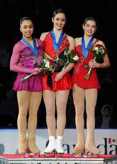 2013 Canadian Tire National Figure Skating Championships Senior Women's Podium  1. Kaetlyn Osmond  2. Gabrielle Daleman  3. Alaine Chartrand skatecanada.ca