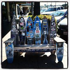 longboard skate bench