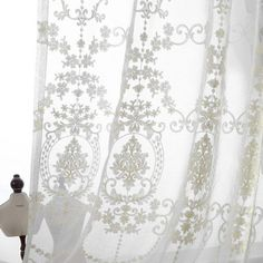 Really lovely lace and linen curtains for my master bedroom!