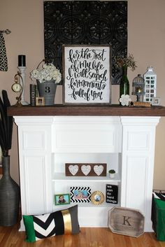 faux fireplace and mantel decor ideas