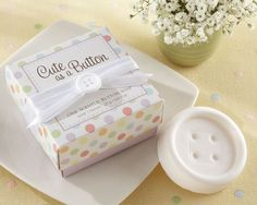 Cute as a Button Scented Button Soap at Elegant Baby Favors. We're your number one source for baby shower favors and christening favors. Baby shower soap favors at discount prices! Unique Baby Shower Favors, Cute Baby Shower Ideas, Baby Shower Party Favors, Baby Shower Parties, Baby Favors, Shower Gifts, Baptism Favors, Shower Baby, Bridal Shower