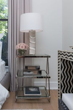On Property Brothers: Buying and Selling, Jonathan and Drew help an artsy Nashville couple give their home upscale style with sheer woven wood shades. Bedroom Windows, Living Room Windows, Blinds For Windows, Woven Wood Shades, Bamboo Shades, Faux Wood Blinds, Bamboo Blinds, Blackout Shades, Window Treatments Living Room