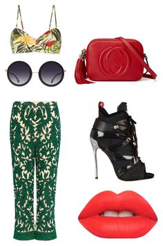 """Untitled #32"" by son9o on Polyvore featuring Miguelina, Ganni, Alice + Olivia, Gucci, Dsquared2 and Lime Crime"