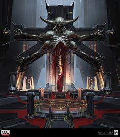 Monster Concept Art, Game Concept Art, Monster Art, Arte Horror, Horror Art, Sci Fi Horror, Fantasy Concept Art, Sci Fi Fantasy, Doom Demons