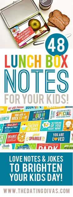 FREE 48 Lunch Box Notes For Your Kids by The Dating Divas