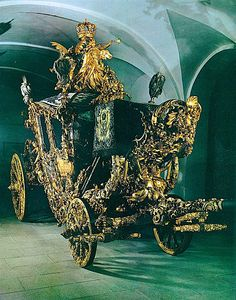 Royal State Coach, Linderhof, Germany- transportation of the wandering mind