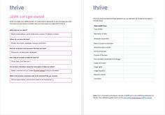 Thrive GDPR Audit Template