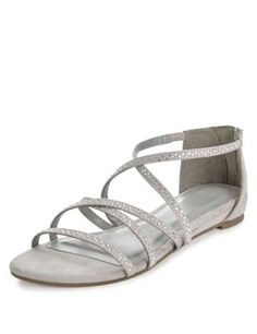 Sparkle Cage Sandals | M&S