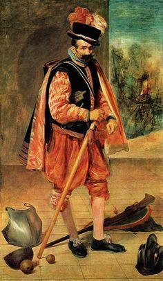 с.1632.El bufón llamado Don Juan de Austria.The Jester Don John of Austria. Retrato del bufón llamado Don Juan de Austria, que estuvo al servicio de la Corte española entre 1624 y 1654.Diego Velázquez (1599-1660)oil on canvas. 210х123 cm.Prado Museum.