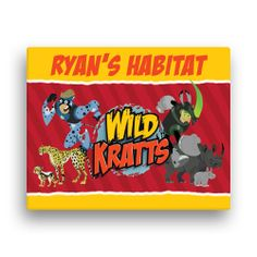 Buy Wild Kratts Creature Power 11 x 14 Canvas Wall Art at the PBS KIDS Shop. This would be a cool backdrop Cool Backdrops, Wild Kratts, Animal Habitats, Pbs Kids, Personalized Wall Art, Kid Spaces, Canvas Wall Art, Color Pop, Kids Shop