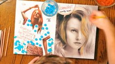 Watch Danny Roberts Illustrate All 69 of IMG's Models Using Colored Pencils and Candy