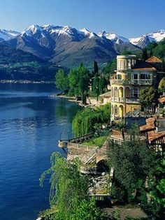 Lake Como is  Italy's third-largest lake. It is surrounded by beautiful villas and resort villages and it's popular for boat trips and water activities.