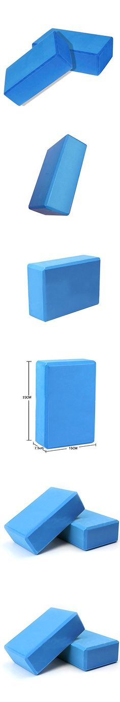 Juenana Yoga Block Foam Brick Stretching Aid Gym Pilates For Exercise Fitness Sport Blue