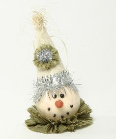 Loving this Snowman Head Ornament on #zulily! #zulilyfinds