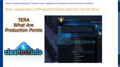 How the Production Points System Works in Tera Fate of Arun.