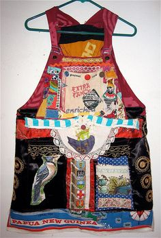 Overalls DRESS of Many Colors Wearable Fabric Collage by mybonny, $91.00