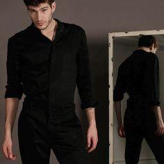 Fashion Editorial  TRANSMUTATION  Menswear Collection  @see.ethan using a jumpsuit #menswear #menswearcollection #prints #art #instastyle #instaboy #fashionmen  #fashion #jumpsuit #allinblack #black #minimal #concept #design #style #berlin #madeinberlin #photooftheday #beautiful #love #stylishmen #fashionable #artvideo #ambient #fashionshoot #menswear #menpostfashion #gourgeous #mode #parisienstyle #parisien