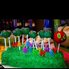 hungry caterpillar cake pops cake!