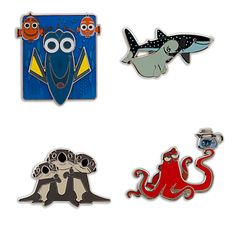 Make a splash with Finding Dory items from the Disney Store. Disney Pins Sets, Disney Trading Pins, Cute Disney, Disney Style, Disney Parks, Disney Pixar, Disney Finding Dory, Disney Pin Collections, Disney Merchandise