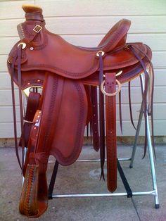 Spanish style western saddle