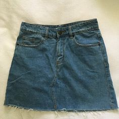 f57c07ce3 Awesome little denim skirt, great quality and nice vintage hem 💛💛 Denim  Skirt,