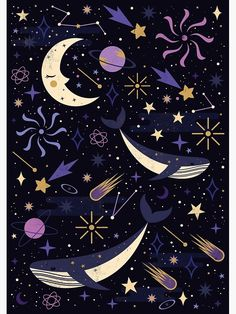/ sea space / carly watts / art and illustration / Art And Illustration, Pattern Illustration, Inspiration Art, Art Inspo, Galaxy Wallpaper, Wallpaper Backgrounds, Constellations, Galaxy Design, Oeuvre D'art